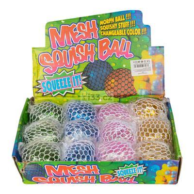 Mesh Squish Ball bóng bóp đổi màu (mix màu) 6.5cm