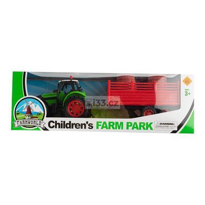 Tractor Toys xe nông trại vận chuyển 2 thùng gỗ 3+