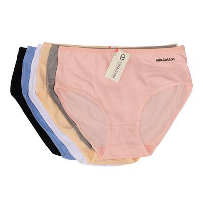 Tina Shan quần lót trung niên trơn 100% cotton mix nhiều màu