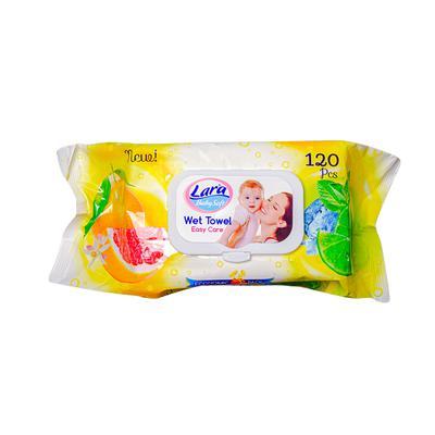 LARA Wet towel Citrus 120pcs