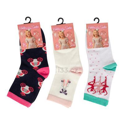 Hobby day socks tất lửng bé gái mix họa tiết 36ks