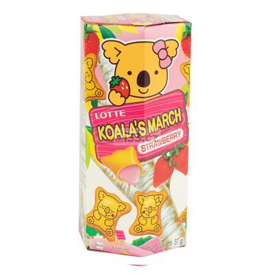 Lotte bánh gấu Koala's March strawberry 37g